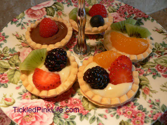 Easy fruit tart recipe-finished shortbread tartlets
