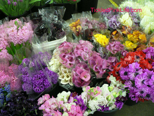 Los Angeles and Southern California Flower Markets-purple and pink flowers