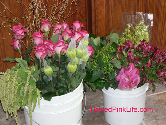 Flowers purchased from Los Angeles and Southern California Flower Markets
