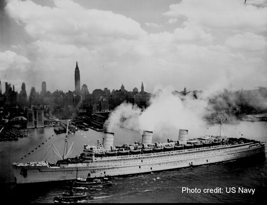 Queen Mary in New York