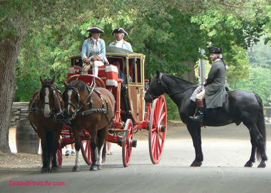 Colonial Williamsburg Virginia historical reenactment-carriage