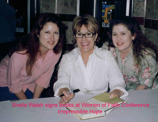 Women of Faith Irrepressible Hope Conference-Held by God Authors Lori and Lynn with Sheila Walsh 2004
