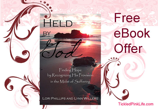 Tickled Pink Life blog partners with HeldbyGod.com to offer free eBook of Held by God