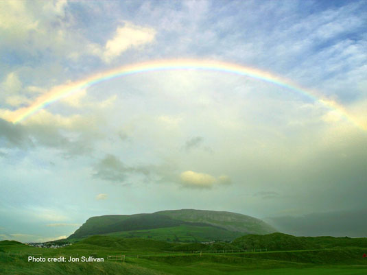 rainbow in Ireland photo credit Jon Sullivan