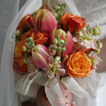Thumbnail image for 31 Days: Orange Rose Tulip Bouquet {Day 11}