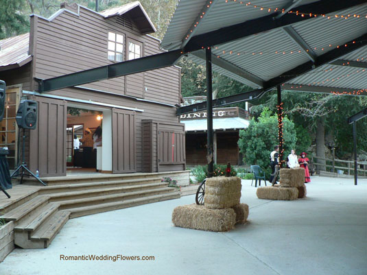 Green Mountain Ranch buffet and out door pavilion