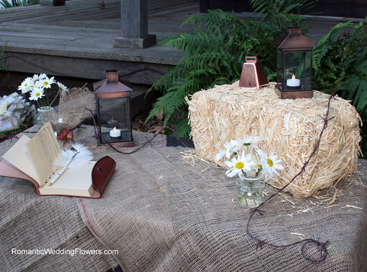 old west guest book table