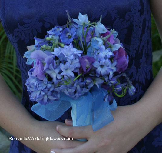 blue delphinium hyacinth bouquet