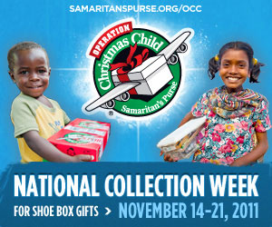 Operation Christmas Child collection banner