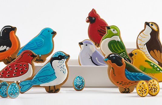 bird sugar cookies Elenis New York