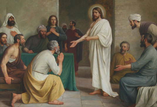 Jesus appears to disciples