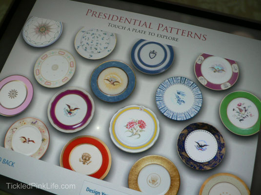 Ronald Reagan Presidential Library White House china patterns