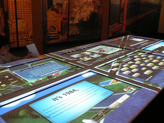 Ronald Reagan Presidential Library interactive economics display