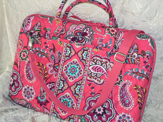 Stylish Vera Bradley Laptop Portfolio For Pink Saturday