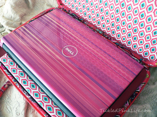 Vera Bradley laptop case Dell Studio 1555 pink cover