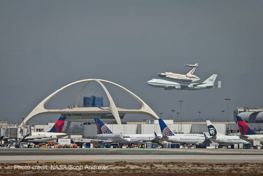 shuttle Endeavour Los Angeles International Airport