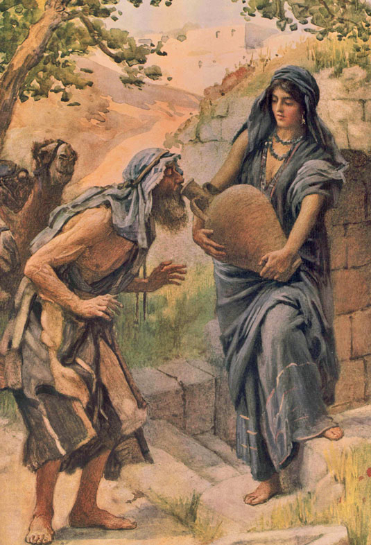 Abraham's servant and Rebekah