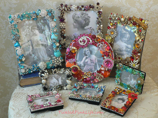 vintage jewelry picture frames etsy lizzieanddarcy Drawing Room Pemberley