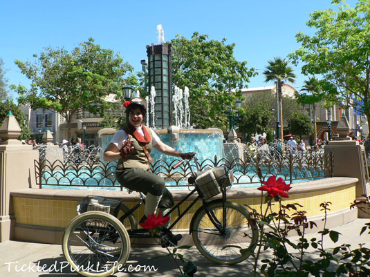 Disney Buena Vista Street bicycle messenger