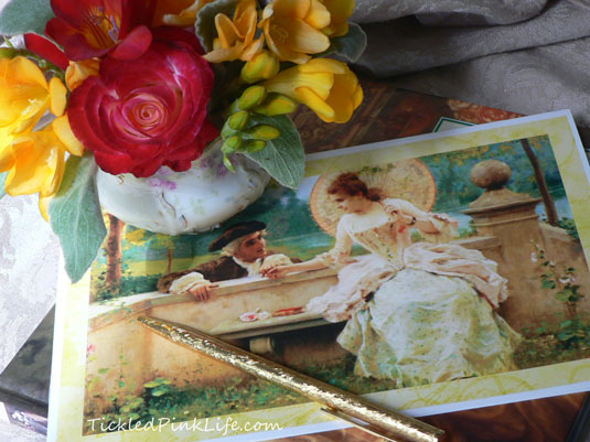 Vintage painting note card