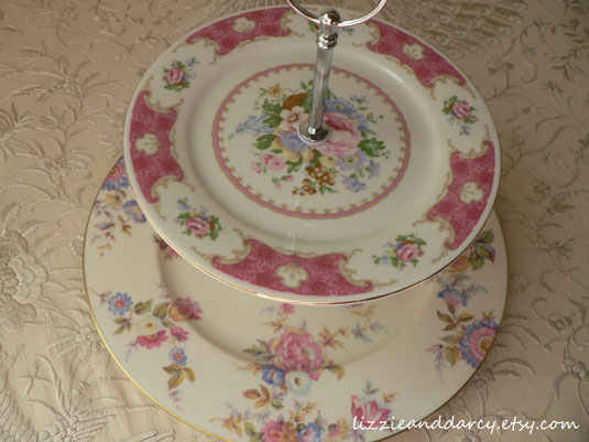 vintage china tiered server