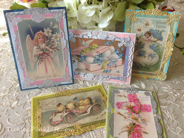 Victorian vintage style Easter cards