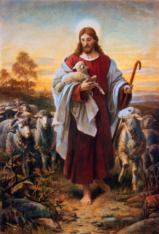Image result for jesus and lamb picture